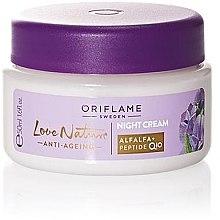 Düfte, Parfümerie und Kosmetik Anti-Aging Nachtcreme mit Luzerne und Q10 Peptide - Oriflame Love Nature Anti-Aging Night Cream