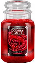 Düfte, Parfümerie und Kosmetik Duftkerze im Glas Scarlet Rose - Country Candle Scarlet Rose