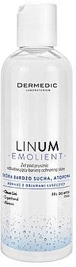 Aufweichendes Duschgel für sehr trockene und atopische Haut - Dermedic Emolient Linum Shower Gel — Bild N1