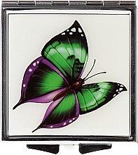 Düfte, Parfümerie und Kosmetik Kosmetischer Taschenspiegel Schmetterling 85437 grün-violett - Top Choice
