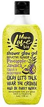 Düfte, Parfümerie und Kosmetik Erfrischendes und glättendes Duschgel mit Schimmer und Avocado - MonoLove Bio Pineapple-Jamaica Tonus&Smoothness