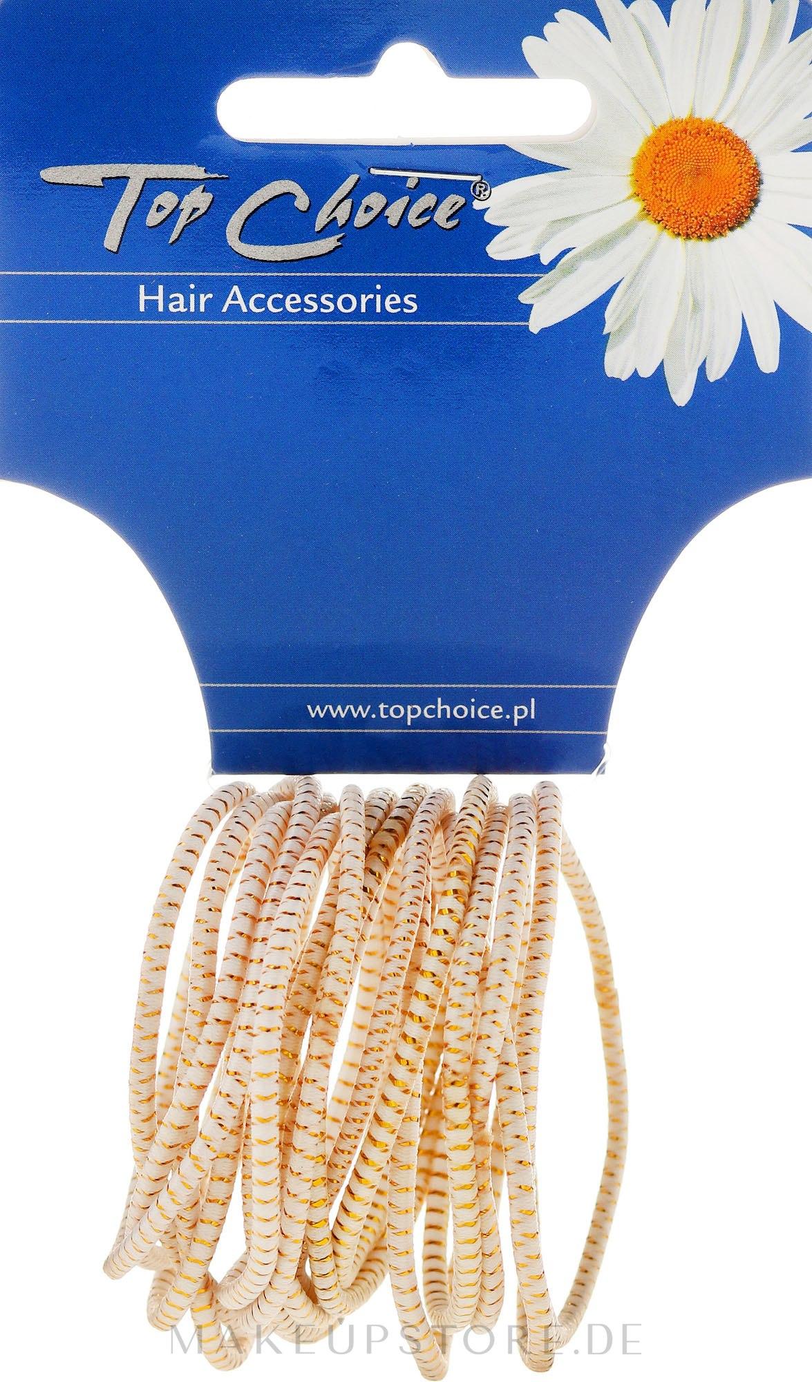 Haargummis White Collection weiß 18 St. - Top Choice — Bild 18 St..