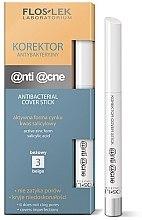 Düfte, Parfümerie und Kosmetik Antibakterieller Abdeckstift - FlosLek Anti Acne Program Corrector
