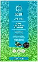 Düfte, Parfümerie und Kosmetik Tiefenreinigende Haarmaske mit Aktivkohle und Amla - Khadi Deep Charcoal Cleanse Haar Maske