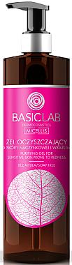 Gesichtsreinigungsgel für kapillare und empfindliche Haut - BasicLab Dermocosmetics Micellis — Bild N1