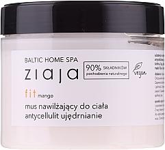 Düfte, Parfümerie und Kosmetik Feuchtigkeitsspendende und straffende Anti-Cellulite Körpermousse mit Mangoduft - Ziaja Baltic Home Spa FIT Mango Moisturizing Body Mousse