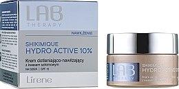 Düfte, Parfümerie und Kosmetik Feuchtigkeitsspendende Tagescreme mit Shikimisäure - Lirene Lab Therapy Moisture Shikimique Hydro Active 10% Cream SPF15