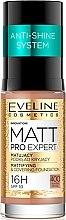 Düfte, Parfümerie und Kosmetik Mattierende und langanhaltende Foundation LSF 10 - Eveline Cosmetics Matt Pro Expert