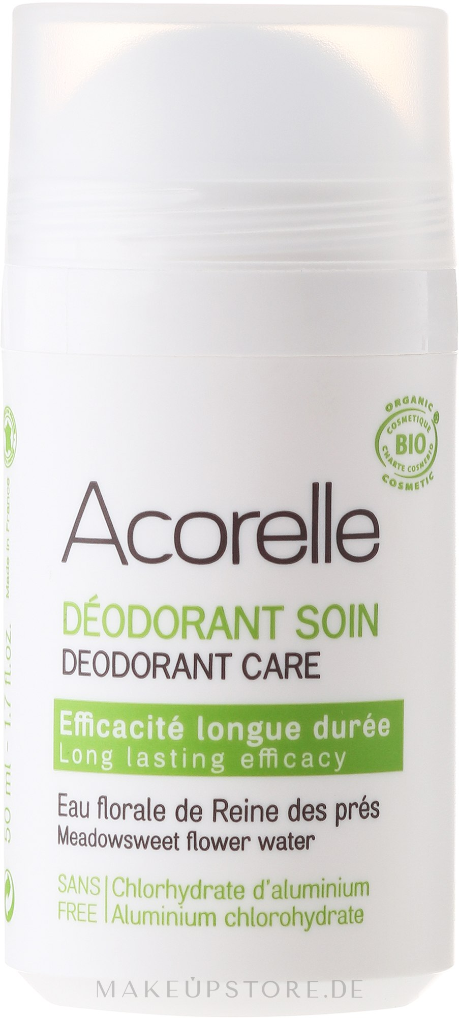 Bio Deo Roll-on mit Feldblumen - Acorelle Deodorant Care — Bild 50 ml