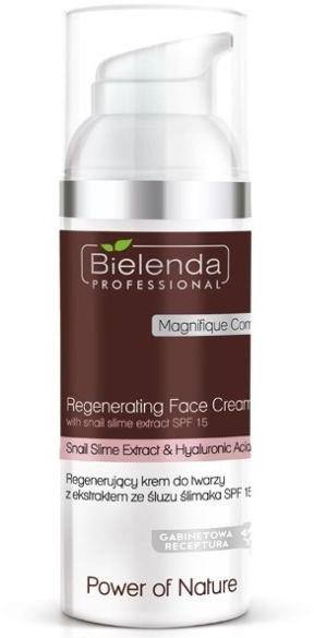 Regenerierende Gesichtscreme mit Schneckenextrakt SPF 15 - Bielenda Professional Power Of Nature Rebuilding Repair Face Cream