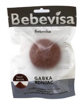 Peelingschwamm für Gesicht mit Konjak-Wurzel & roter Tonerde - Bebevisa Konjac Sponge Red Clay — Bild N1