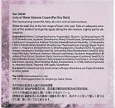 Feuchtigkeitscreme für trockene Haut - The Saem Iceland Water Volume Hydrating Cream — Bild N3