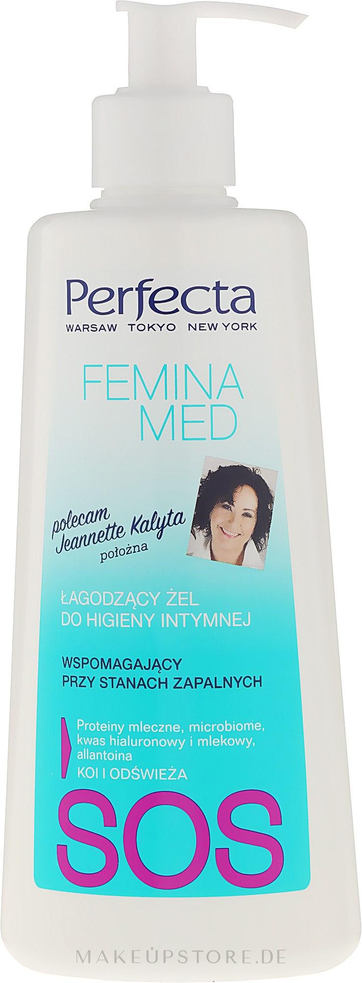 Beruhigendes Gel für die Intimhygiene - Perfecta Femina Med SOS — Bild 250 ml