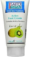Düfte, Parfümerie und Kosmetik Fußcreme mit Birne und Kiwi - Saito Spa Active Foot Cream Kiwi Pear