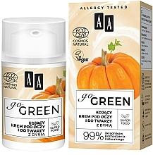 Düfte, Parfümerie und Kosmetik Beruhigende Gesichts- und Augenkonturcreme mit Kürbis - AA Go Green