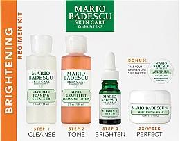 Düfte, Parfümerie und Kosmetik Gesichtspflegeset - Mario Badescu The Brightening Kit (Reinigungsschaum 117ml + Gesichtslotion 236ml + Gesichtsserum 29ml + Gesichtsmaske 56g + Creme 3g)