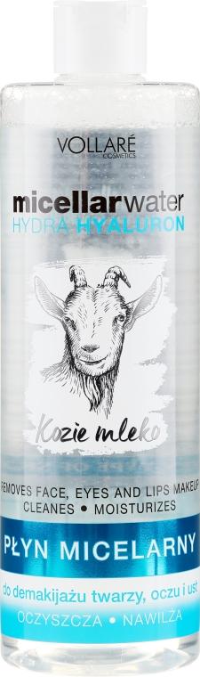 Feuchtigkeitsspendende Mizellen-Reinigungswasser mit Hyaluronsäure und Ziegenmilch - Vollare Goat's Milk Micellar Water Hedra Hyaluron — Bild N1