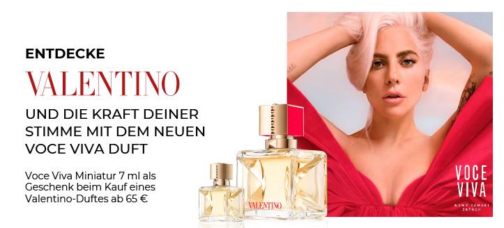 Beim Kauf eines Valentino-Duftes ab 65 € erhältst Du ein Mini Voce Viva 7 ml geschenkt