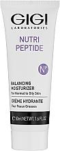 Düfte, Parfümerie und Kosmetik Feuchtigkeitsspendende Gesichtscreme für normale bis fettige Haut mit Peptidkomplex - Gigi Nutri-Peptide Balancing Moisturizer Oily Skin