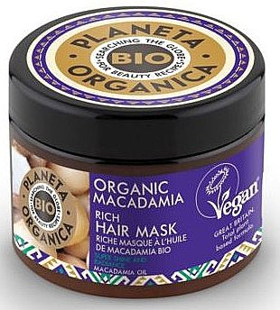 Haarmaske mit Macadamia - Planeta Organica Organic Macadamia Rich Hair Mask — Bild N1