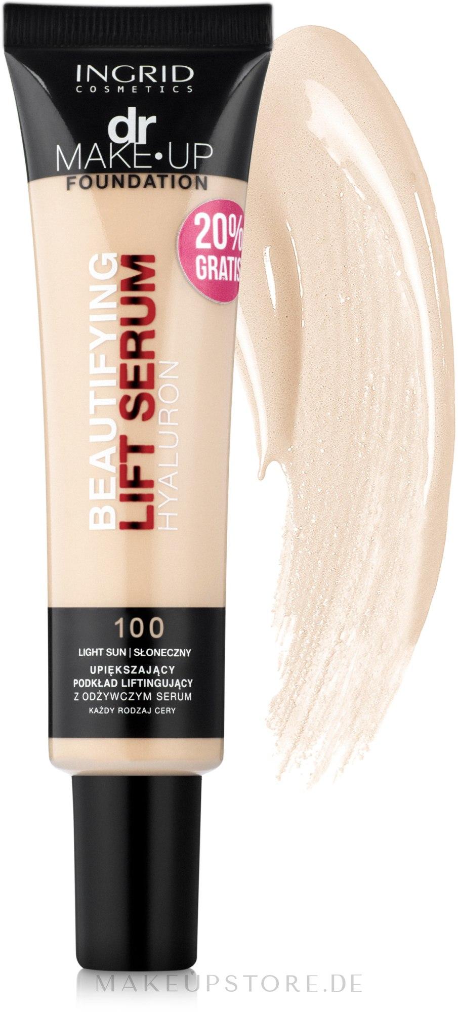 Anti-Aging Foundation mit Hyaluronsäure - Ingrid Cosmetics Dr Make-Up — Bild 100 - Porcelain