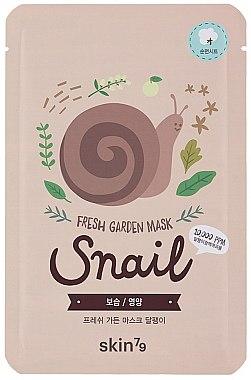 Erfrischende Tuchmaske für das Gesicht mit Schneckenextrakt - Skin79 Fresh Garden Mask Snail — Bild N1