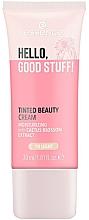 Düfte, Parfümerie und Kosmetik Feuchtigkeitsspendende getönte Gesichtscreme mit Kaktusblütenextrakt - Essence Hello Good Stuff! Tinted Beauty Cream
