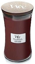 Düfte, Parfümerie und Kosmetik Duftkerze im Glas Black Cherry - WoodWick Hourglass Candle Black Cherry