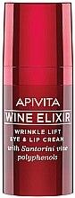 Düfte, Parfümerie und Kosmetik Anti-Falten Augen- und Lippencreme mit Santorin-Wein und Polyphenolen - Apivita Wine Elixir Cream