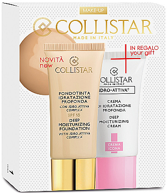 Set - Collistar Deep Moisturizing Mou (Foundation/30ml + Gesichtscreme/25ml) — Bild N1