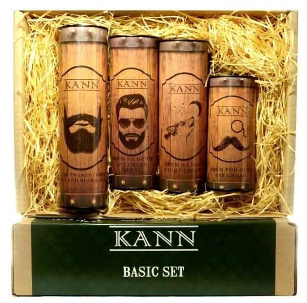 Gesichtspflegeset - Kann Basic Man (Gesicht- und Bartcreme 50ml + Tagescreme 50ml + Nachtcreme 50ml + Augencreme 15ml) — Bild N1