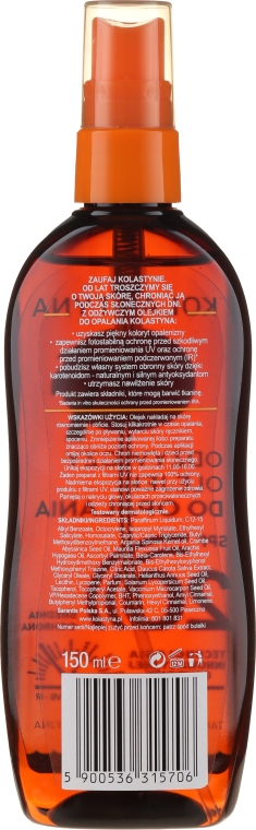 Wasserdichtes Bräunungsöl SPF 20 - Kolastyna — Bild N2