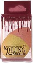Düfte, Parfümerie und Kosmetik Make-up Schwamm rosa-gelb - Bling Powder Puff