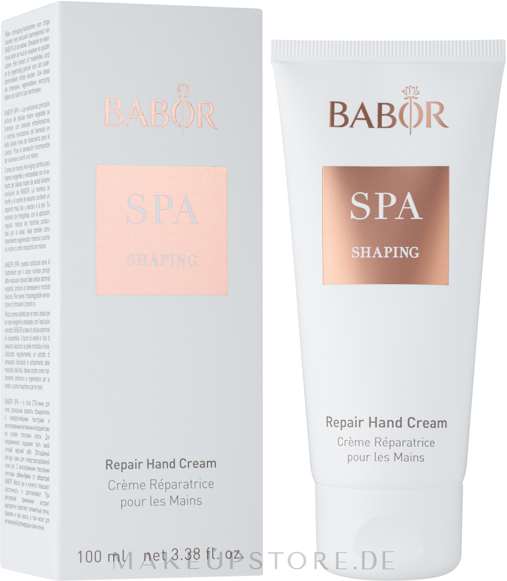 Regenerierende Handcreme - Babor SPA Shaping Repair Hand Cream — Bild 100 ml