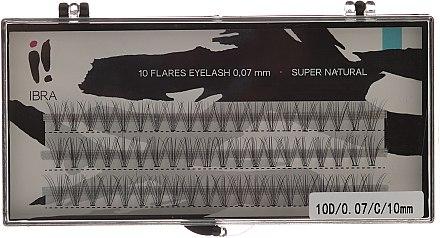 Wimpernbüschel-Set C 10 mm - Ibra 10 Flares Eyelash — Bild N1