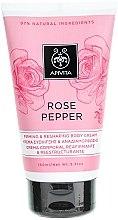 Düfte, Parfümerie und Kosmetik Straffende Anti-Cellulite Körpercreme mit rosa Pfeffer und Rose - Apivita Rose Pepper Firming & Reshaping Body Cream