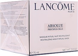 Düfte, Parfümerie und Kosmetik Gesichtsmaske - Lancome Absolue Precious Cells Night Ritual Mask