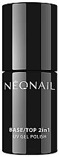 Düfte, Parfümerie und Kosmetik 2in1 UV Nagelünter- und Nagelüberlack - NeoNail Professional Base/Top 2in1 UV Gel Polish