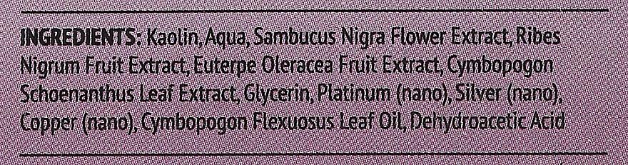Nährende Gesichtsreinigungsmaske mit Holunder, Acai-Beeren und Zitronengras - Organic Lab Nourishing And Cleansing Face Mask Elderberry Acai Berries And Lemongrass — Bild N2