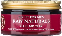 Düfte, Parfümerie und Kosmetik Haarwachs auf Tonbasis mit Matteffekt - Recipe For Men RAW Naturals Call Me Clay