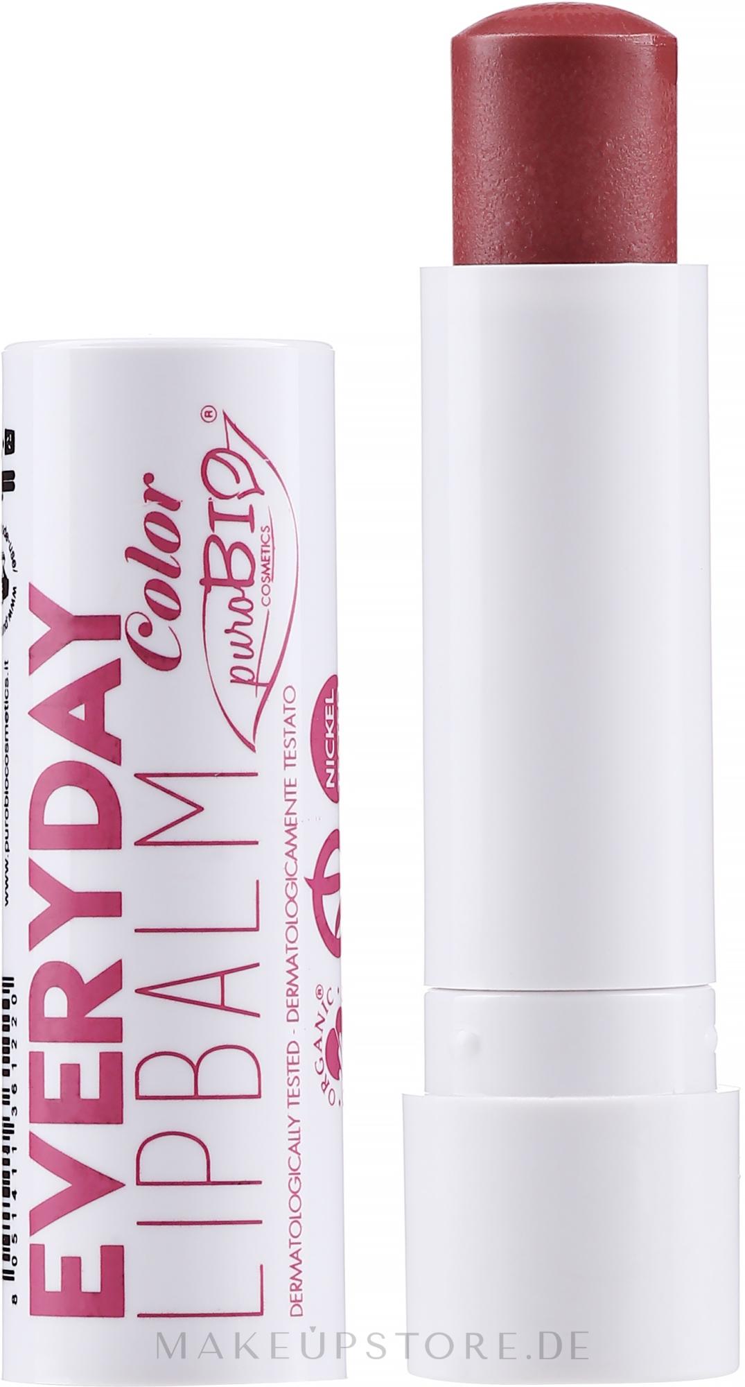 Lippenbalsam mit Farbe für täglichen Gebrauch - PuroBio Cosmetics Everyday Color Lip Balm — Bild 03