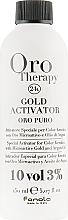 Düfte, Parfümerie und Kosmetik Entwicklerlotion mit goldenen Mikropartikeln und Arganöl 3% - Fanola Oro Gold