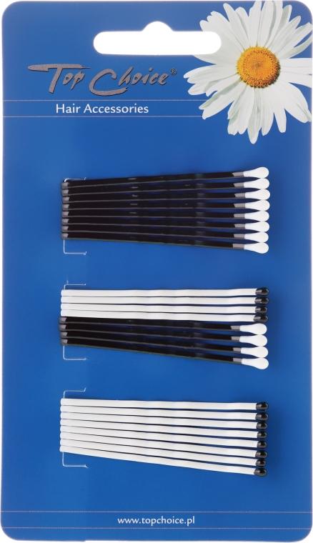 Haarnadeln weiß-schwarz 24 St. - Top Choice — Bild N1