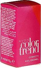 Düfte, Parfümerie und Kosmetik Konfetti-Nagellack - Avon Color Trend Confetti