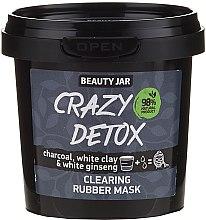 Düfte, Parfümerie und Kosmetik Reinigende Gesichtsmaske mit Aktivkohle, weißem Ton und Ginseng - Beauty Jar Crazy Detox Clearing Rubber Mask