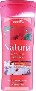 Shampoo für gefärbtes Haar mit Mohn und Baumwolle - Joanna Naturia Shampoo With Poppy And Cotton — Bild N1