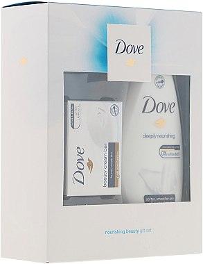 Körperpflegeset - Dove Nourishing Beauty Gift Set (Duschgel 250ml + Seife 100ml) — Bild N1