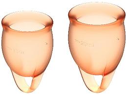 Düfte, Parfümerie und Kosmetik Menstruationstasse 2 St. orange - Satisfyer Feel Confident Menstrual Cups Orange