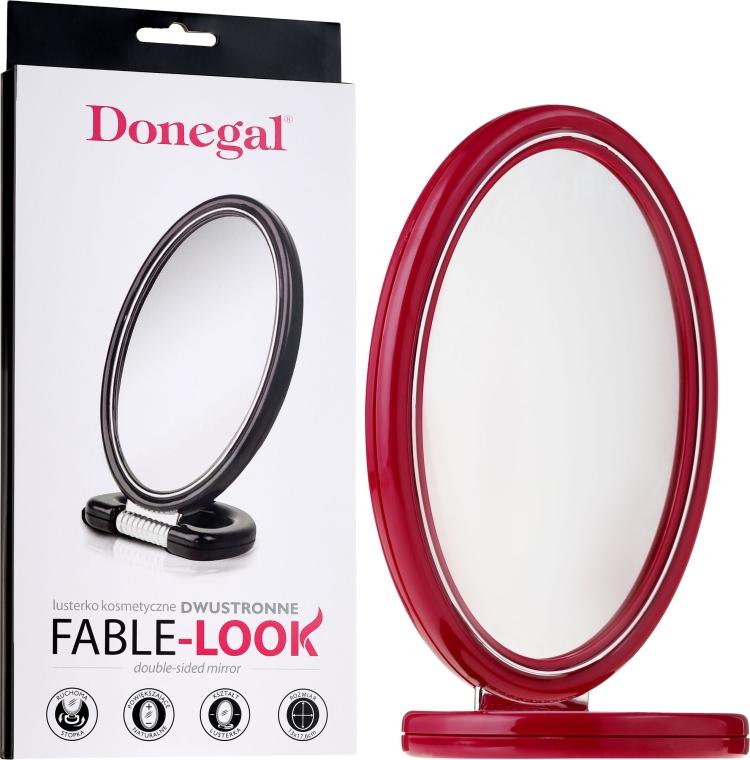 Doppelseitiger Kosmetikspiegel 9503 rot - Donegal Mirror — Bild N2
