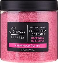 Düfte, Parfümerie und Kosmetik Natürliches Badesalz mit Erdbeeren und Joghurt - Senso Terapia Happines Re-Charge